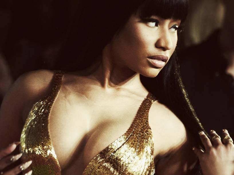 Nicki Minaj durante o Video Music Awards, da MTV, em Los Angeles, neste domingo (30)