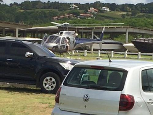 Quadrilha ostentava lanchas e jet skis Sedução, Volúpia e Ousadia e Alegria, além de helicópteros