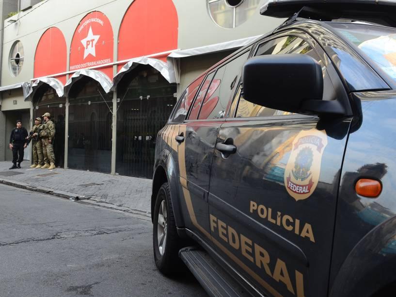 Polícia Federal faz buscas na sede do PT em São Paulo durante operação Custo Brasil, desdobramento da Operação Lava Jato - 23/06/2016