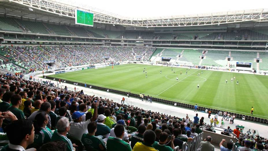 Evento-teste da nova arena do Palmeiras, que recebeu um amistoso entre antigos ídolos do clube no último fim de semana