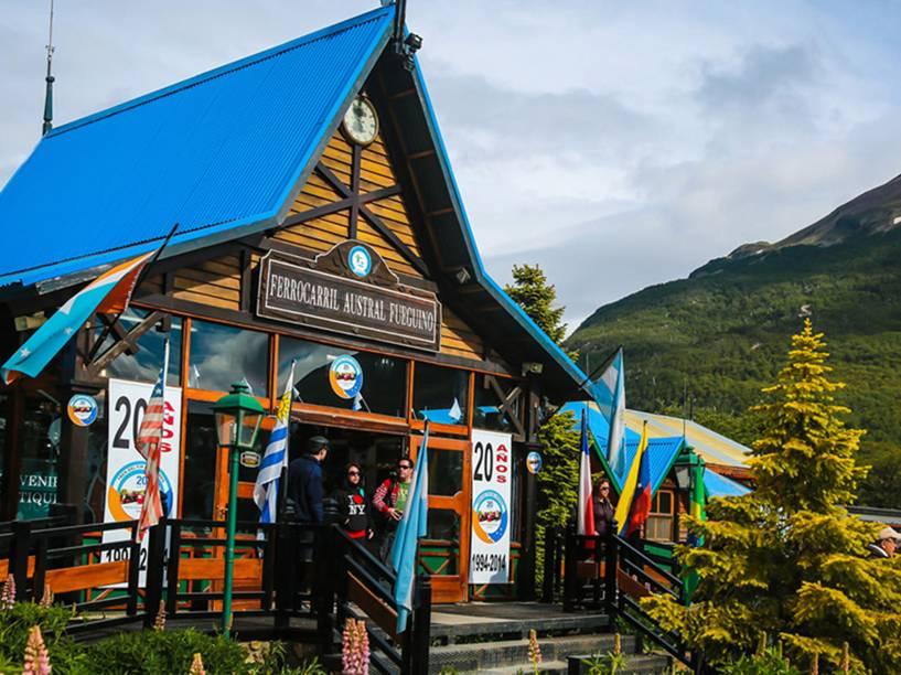 Estação do Trem do Fim do Mundo na Rodovia Nacional número 3, em Ushuaia<br><br>