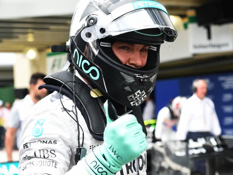 Nico Rosberg conquistou o melhor tempo no treino de classificação para o Grande Prêmio do Brasil