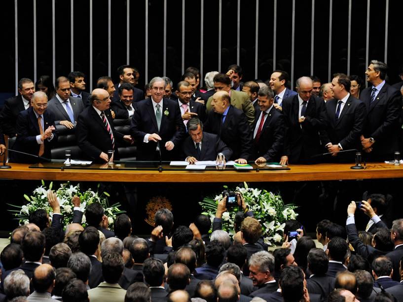 Eleição do novo presidente da Camara dos deputados, em Brasília