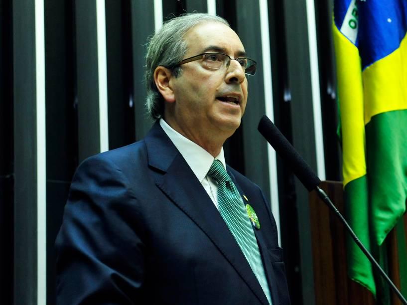 Candidato à presidência da Câmara, o deputado Eduardo Cunha