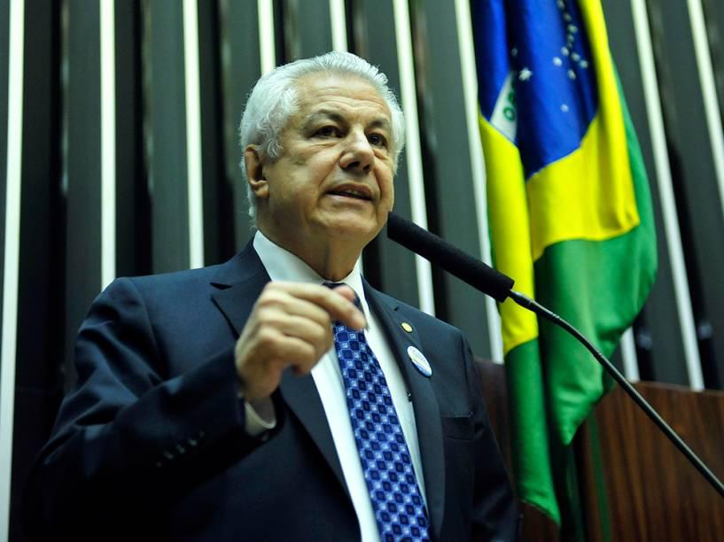 Candidato à presidência da Câmara, o deputado Arlindo Chinaglia