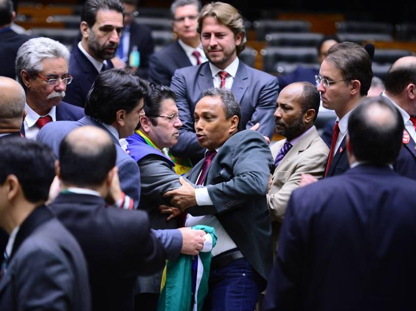 Câmara dos Deputados se organiza para a votação do processo de Impeachment contra a Presidente Dilma Rousseff - 17/04/2016