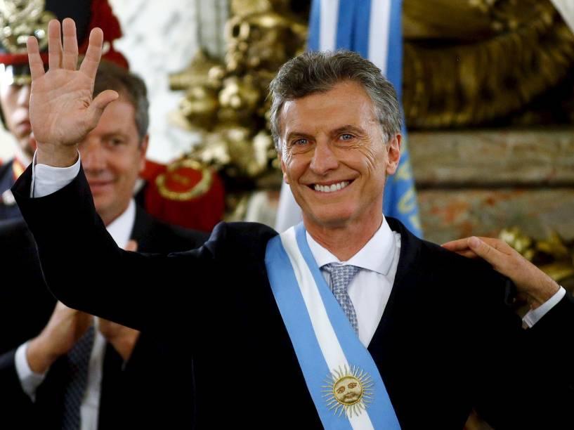 Mauricio Macri toma posse como novo presidente da Argentina em Buenos Aires
