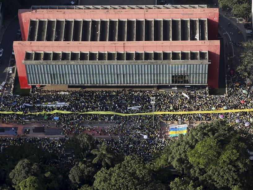 Protesto na Avenida Paulista, em São Paulo