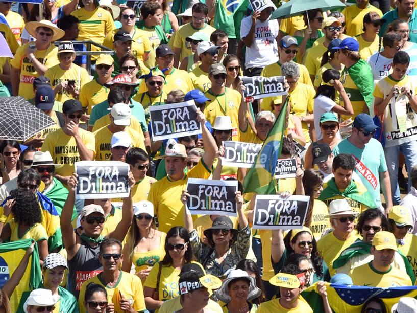Em Brasília, manifestações contra o governo de Dilma Rousseff