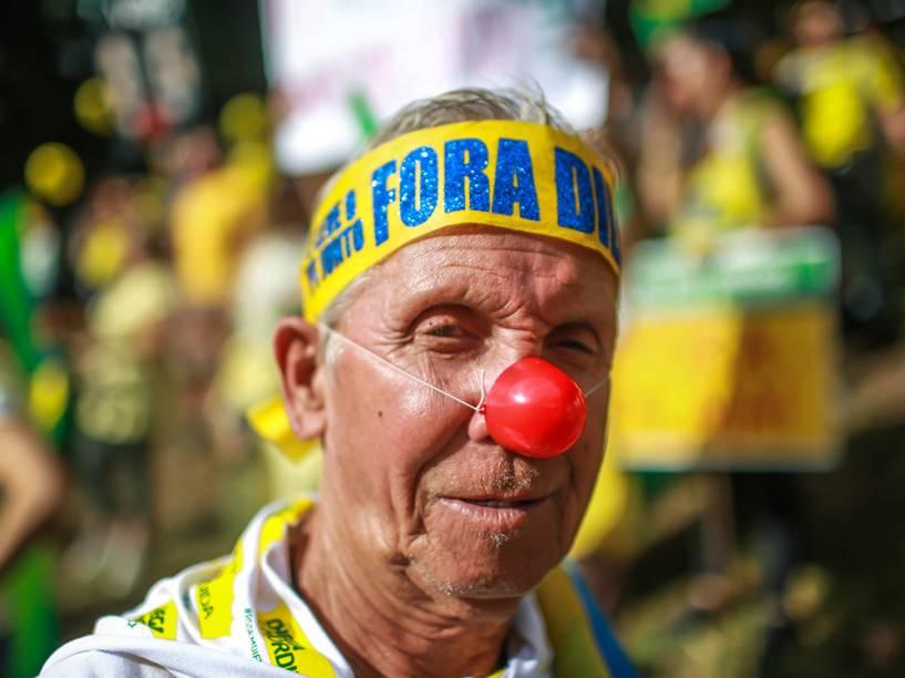 Manifestação contra o governo do PT em Porto Alegre