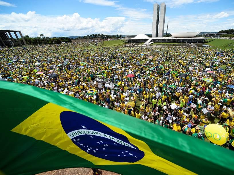 Manifestação contra corrupção em Brasília (DF)