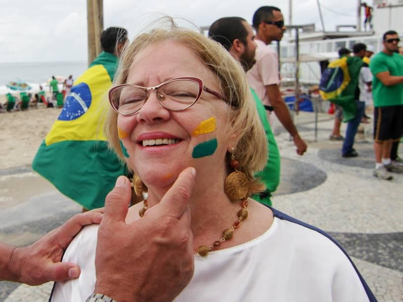 Movimentação durante manifestação contra a corrupção e a presidente Dilma Rousseff, em Copacabana, Rio de Janeiro, neste domingo (13)
