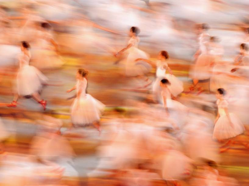 Bailarinas na abertura dos Jogos de Sochi, na Rússia