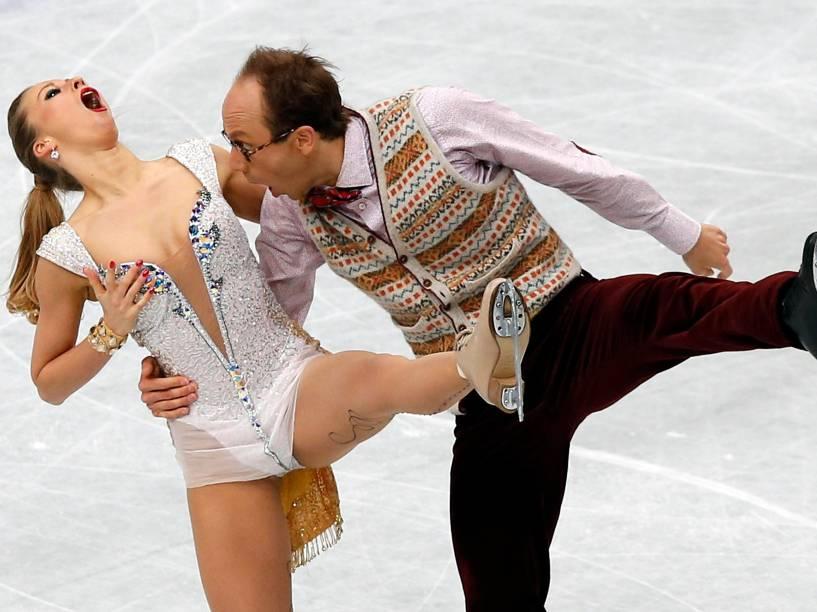 A dupla alemã Nelli Zhiganshina e Alexander Gazsi participou de campeonato de patinação em Tóquio, no Japão