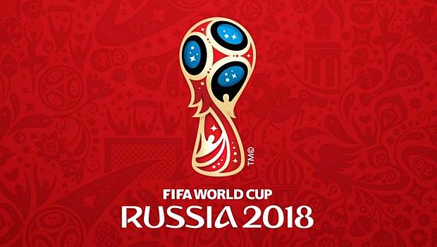 Emblema oficial da Copa do Mundo de 2018, na Rússia