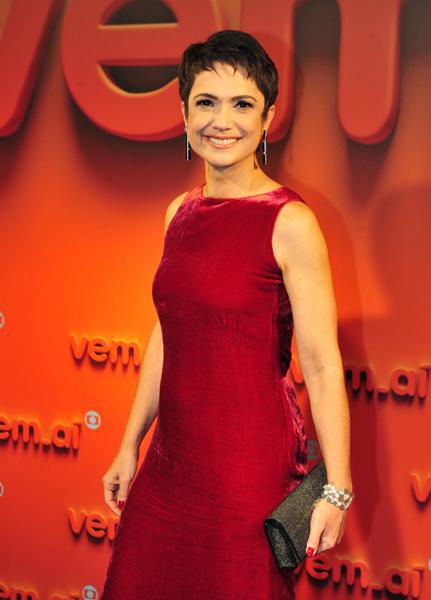 Sandra Annenberg no evento Vem Aí, da Globo