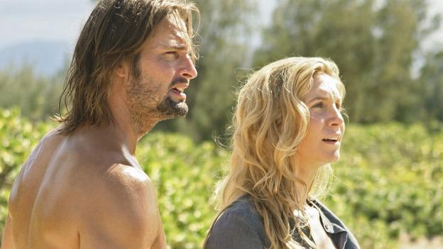 Sawyer (Josh Holloway) e Juliet (Elizabeth Mitchell) na série Lost