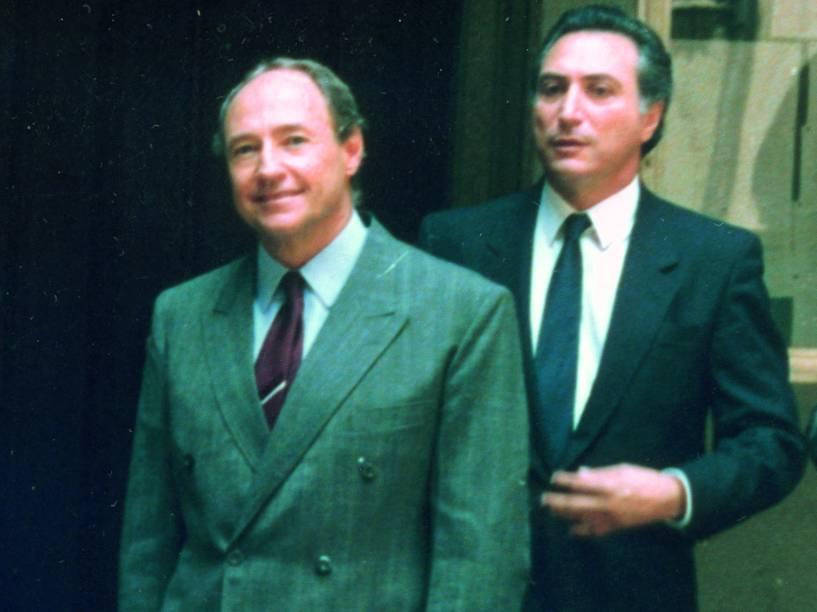 Michel Temer e o criminalista Ralph Tórtima: amigos desde os tempos de estudante