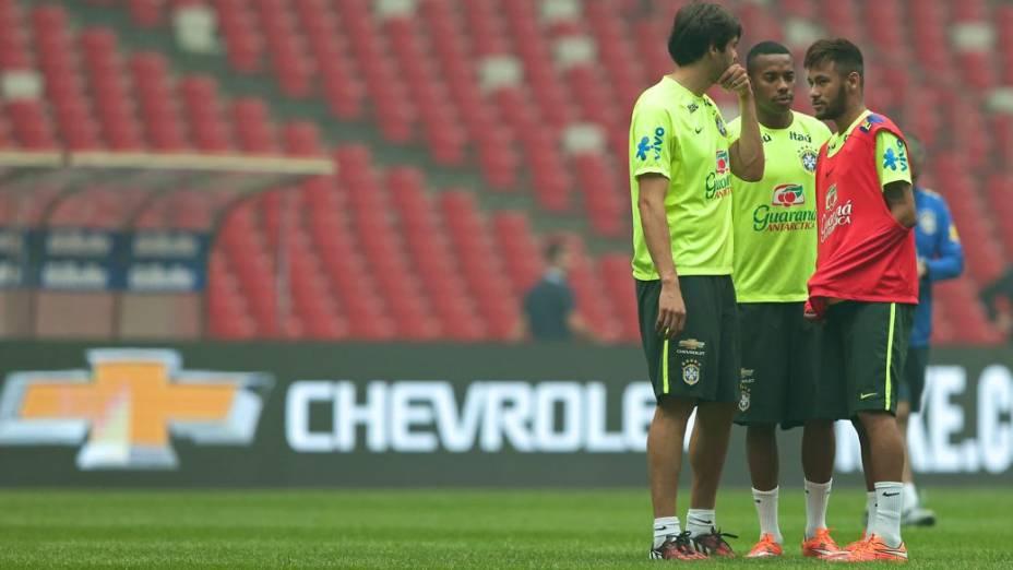 Último treino da seleção brasileira antes do Superclássico das Américas, em Pequim