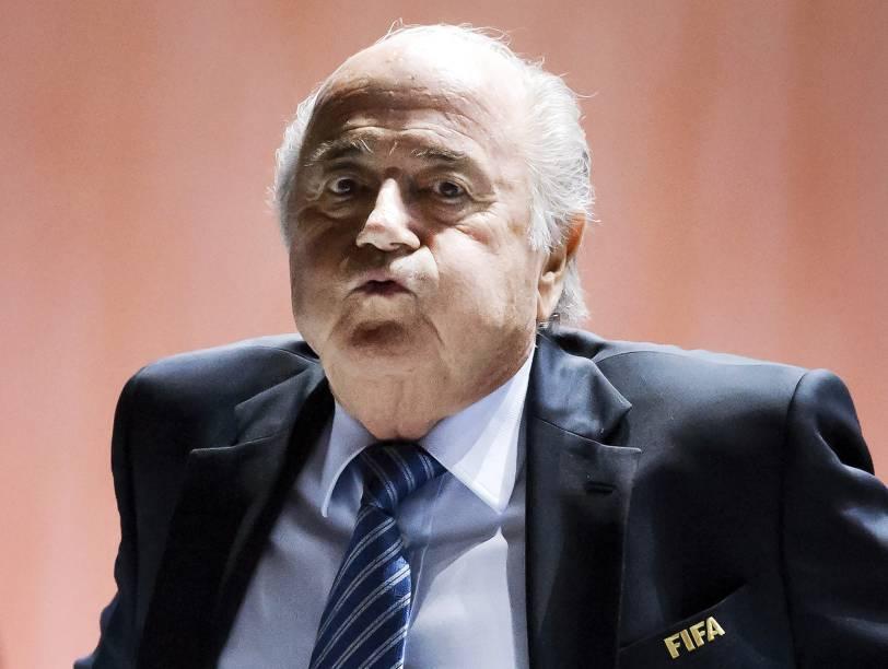 Joseph Blatter, discursa durante a abertura do 65º Congresso da Fifa em Zurique, Suíça