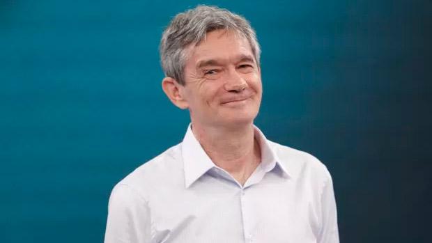 Serginho Groisman no Domingão do Faustão, da Globo