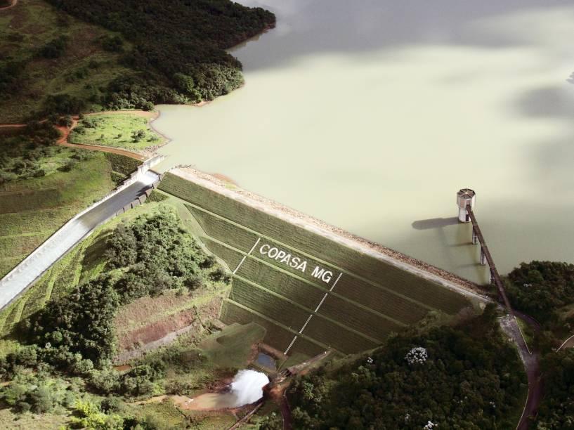 Represa do Sistema Rio Manso em Conceição do Itaguá, distrito de Brumadinho (MG), em foto de 2012