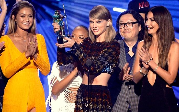 Taylor Swift venceu o principal prêmio da noite, o de clipe do ano
