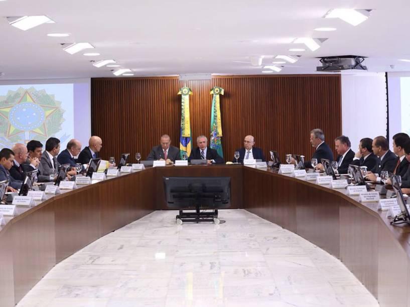Michel Temer realiza primeira reunião ministerial de seu governo - 13/05/2016