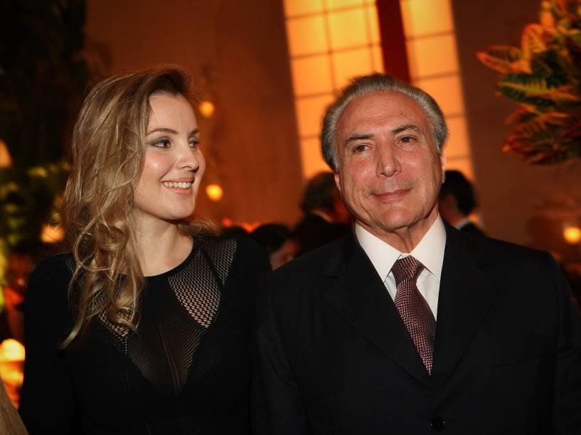 Michel Temer ao lado da sua mulher Marcela em 2013