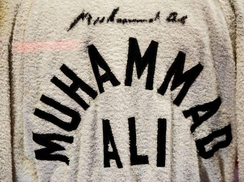 """Item da exposição """"I am the greatest"""", sobre o boxeador Muhammad Ali, que seguirá em cartaz em Londres até agosto"""