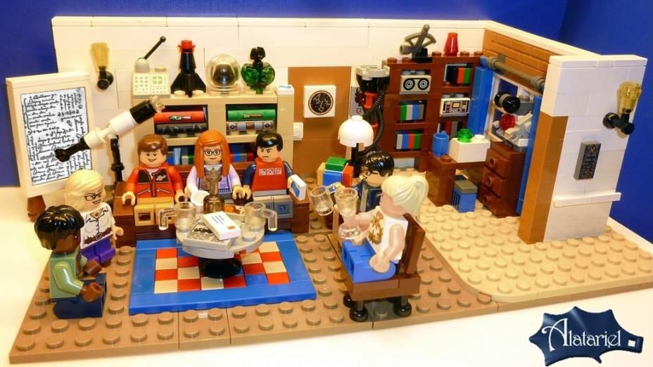 Os bonecos da Lego baseados nos personagens de The Big Bang Theory