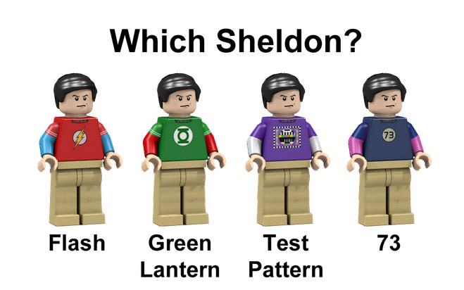 O Sheldon com camisa do Flash foi escolhido com 70% dos votos (ou 5.618 votos)