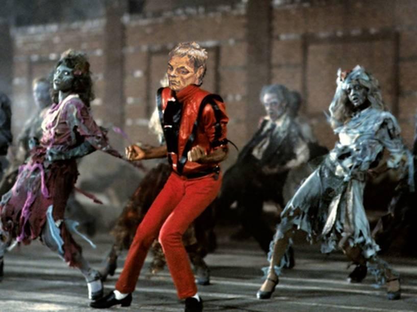 Meme do retrato de Tom Brady como Michael Jackson no clipe de Thriller