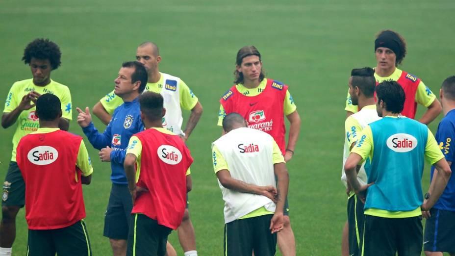 Os preparativos da seleção brasileira para o Superclássico das Américas contra a Argentina, em Pequim