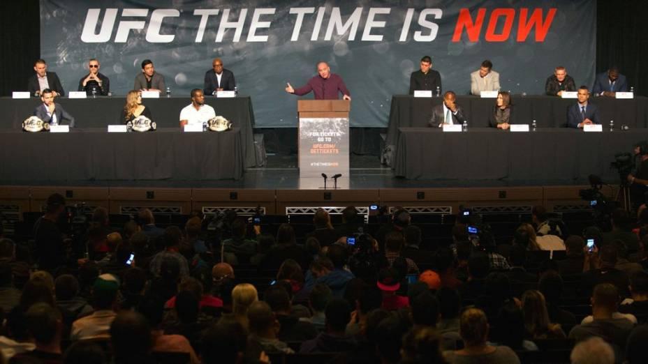 Evento de divulgação da temporada 2015 do UFC, em Las Vegas