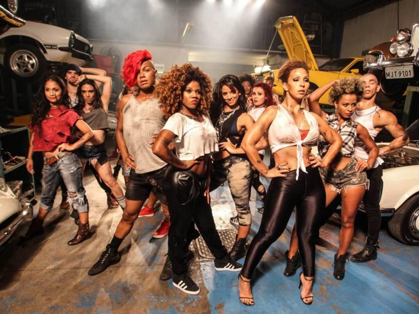 Valesca Popozuda na gravação do clipe de Eu Sou a Diva que Você Quer Copiar