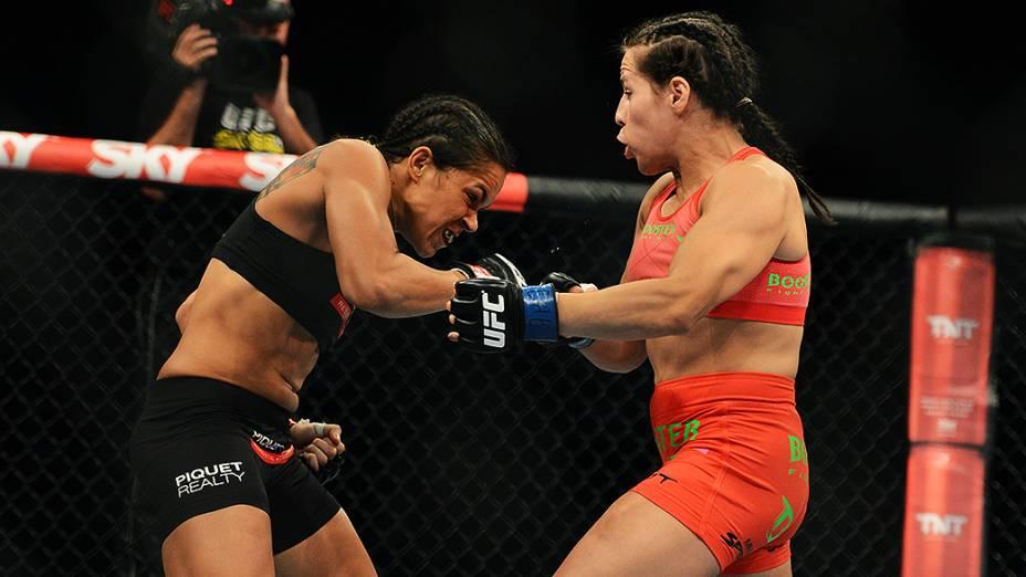 A brasileira Amanda Nunes vence a alemã Sheila Gaff no Ultimate Fighting que volta ao Rio de Janeiro (RJ), para o evento UFC 163, ou simplesmente UFC Rio 4