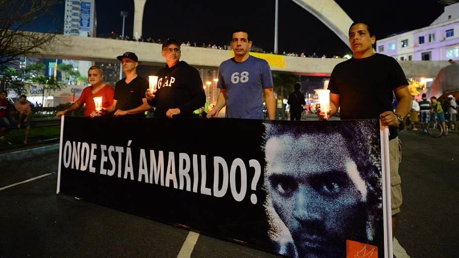 Protesto contra o desaparecimento do pedreiro Amarildo de Souza no Rio de Janeiro