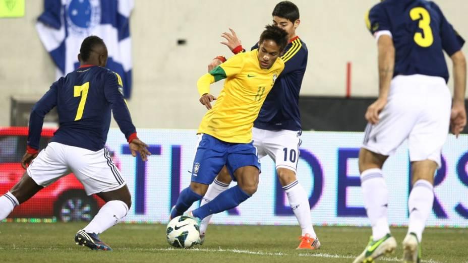 Amistoso entre Brasil e Colômbia, em Nova Jersey, nos Estados Unidos - 14/11/2012