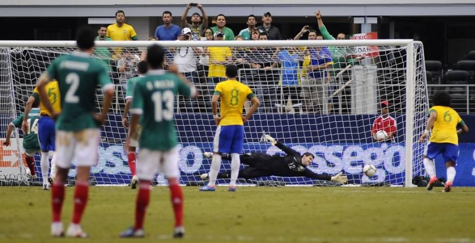 Amistoso entre Brasil e México, no Estádio dos Cowboys, em Dallas, no Texas