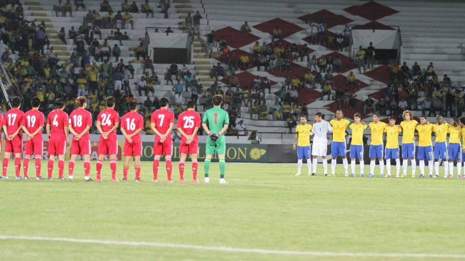 Amistoso entre Brasil e China no Estádio do Arruda, no Recife