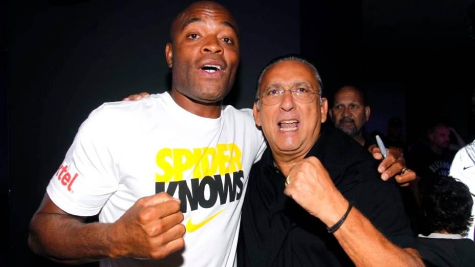 Anderson Silva em evento da Nike no Rio de Janeiro