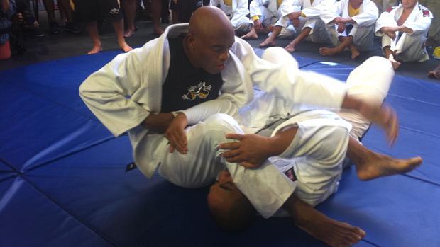 Anderson Silva nos treinos livres para o UFC 148