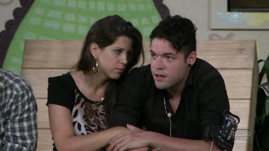 Andressa e Nasser no BBB 13