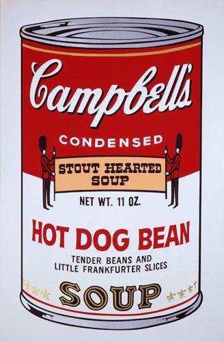 As famosas latas de sopa Campbells.