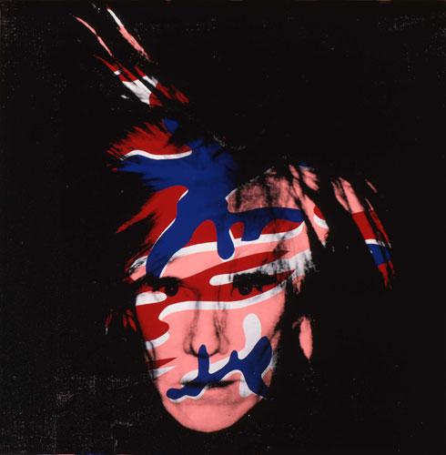 Um dos auto-retratos pintados por Warhol.
