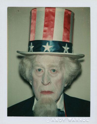 O símbolo americano Tio Sam.