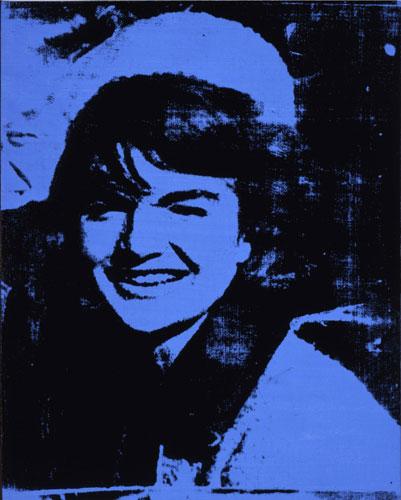 Jackie (Onassis), em tinta acrílica e serigrafia sobre linho.