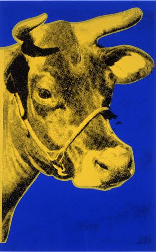 Cow (Yellow on Blue), de 1971.