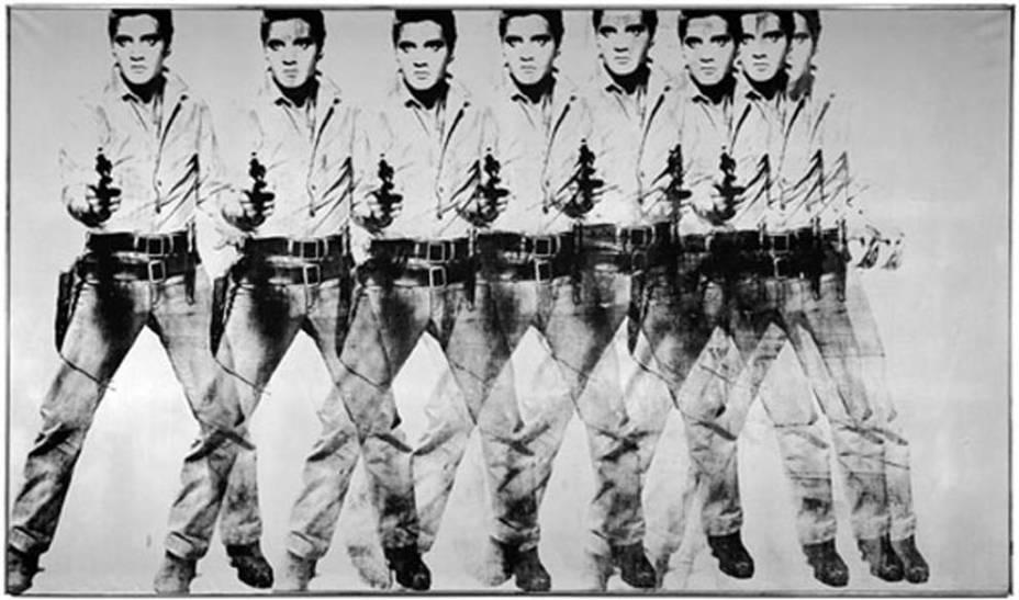 Andy Warhol – <em>Eight Elvises</em>, 1963 - 170 milhões de reais - Comprador desconhecido. Depois de 40 anos de posse, o colecionador romano Annibale Berlingieri decidiu vender a obra em 28 de novembro de 2008 e entregou a tarefa para a Christies. O resultado foi a quebra do recorde de venda para um trabalho do artista norte-americano ícone da pop art.